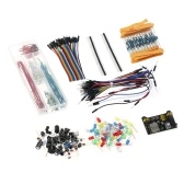 Arduino Component Starter Kit with Resistors(10 kinds), LEDs(6 color), Potentiometer, Solderless Jumper Wire, Preformed Breadboard Jumper Wire Kit for Arduino UNO R3