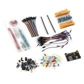 Arduino Component Starter Kit mit Widerständen (10 Arten), LEDs (6 Farben), Potentiometer, lötfreiem Überbrückungsdraht, vorgeformtem Breadboard-Überbrückungsdraht-Kit für Arduino UNO R3