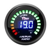 Цифровой автомобильный монитор соотношения воздуха и топлива, 2 дюйма, 52 мм, 20 огней, аналоговый датчик для гонок