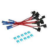 10Pcs 12V Car Add-a-circuit Fuse TAP Adapter Mini Blade Portafusibles ATM APM