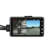 Motocicleta dvr lente dupla gravador de condução