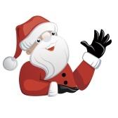 Рождественский стикер Санта-Клауса
