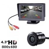 Kit de caméra de recul avec moniteur de recul de voiture TFT LCD de 4,3 pouces