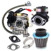 Carburetor Fit for GY6 50CC 49CC 4 Stroke Scooter Taotao Engine 18mm Carb Intake Manifold Air Filter