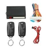 Kit de verrouillage centralisé de système de verrouillage sans clé de porte d'entrée de voiture universelle avec télécommande