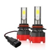 2PCS 9005 светодиодные фары для мотоциклов 6000K 6000LM суперяркие водонепроницаемые светодиодные автомобильные противотуманные фары белый свет