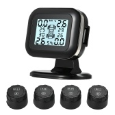 GOOLSKY TPMS Tire Pressure Monitoring System Wireless Real-time  LCD Display 4 External Sensors Alarm Function