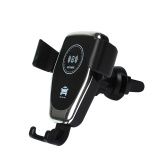 Cargador inalámbrico Soporte para teléfono para automóvil Carga rápida Salida para automóvil inalámbrica Soporte para montaje en cargador Soporte para teléfono móvil