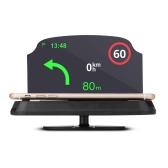 Upgrade 6.5 Inch Car Holder Car HUD Head Up Display Navegação GPS Suporte de montagem de telefone celular Suportes
