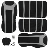 Seat Covers For Cars Full Set 9 Pieces Black High Quality Automobiles Interior   Accessories