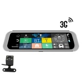 """12V Car Rearview Mirror GPS Navigation DVR Camera 3G WIFI 6.86"""" Android 5.1 Video Recorder Dash Cam Recorder with 2 Cameras"""