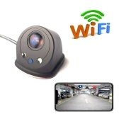 Wireless Car Blind Spot Side View Camera HD WIFI with LEDs 170° View Angle Mini Size with Night Vision IP67 Waterproof for Android IOS Monitor