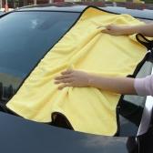 Большого размера из микрофибры автомобиль очистки полотенце ткань многофункциональный стирки Стиральная сушки ткани желтого 92 * 56 см
