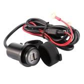12-24V Motorcycle 3.1A Dual USB Круговое водонепроницаемое зарядное устройство