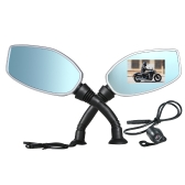 Motorcycle Rearview Mirror Twin Camera DVR