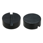 2 Pcs Preto DIY Carro SUV Slotted Frame Rail Hydraulic Floor Jack Disk Rubber Pad