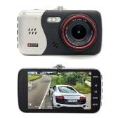 Junsun 4-дюймовый автомобильный видеорегистратор Full HD 1080P с двойным объективом Видеомагнитофон ночного видения Заливка света Монитор парковки Вид сзади Автоматическое обнаружение движения камеры