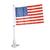 Patrón de asta de poste de metal de la motocicleta Patrón de estrellas y rayas de a bordo de la bandera americana Accesorios decorativos de la motocicleta