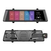 Grabador de la impulsión de la cámara de vídeo de la corriente DVR del coche de los medios de la secuencia de 10 pulgadas HD lleno 1080P