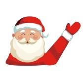 Etiqueta engomada de Papá Noel de la Navidad