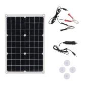 Tragbares Solarladegerät Sun Power Solar Panels für Reisen und Privathaushalte mit 50 W und zwei USB-Ladegeräten