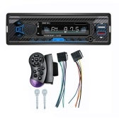 Car Radio Stereo MP3 Player BT Audio and Hands-Free Calling FM Radio Support USB TF Aux Input with Wireless Remote Control