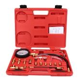 Psi manómetro gasolina prueba 0-140 de bomba presión probador del inyector de inyección de combustible