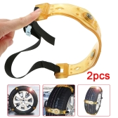 2PCS Anti Slip Car Tire Chains Winter Snow Chains Anti-skid Tyre Chain Mud Sand Ice Chains for Tire Width 205-225mm