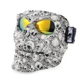 Защитные очки для мотоциклов Шлем-маска Наружные верховые мотокроссы Черепа Ветрозащитные очки для ветра Песочные очки Goggle Kinight