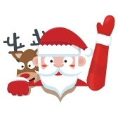 Christmas Santa Claus Sticker