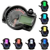 Instrumento do velocímetro da motocicleta LCD Tacômetro Digital Medidor Odômetro 7 cores com luz de aviso de falha para RX2N 4 cilindros 400CC 5000rpm
