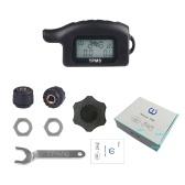 防水コードレスTPMSオートバイタイヤ空気圧監視システム2外部センサーモトツール