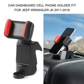 Car Phone Mount, Universal Dashboard Cell Phone Holder, Multi-Mount Dash Phone Holder Fit for Jeep Wrangler JK 2011-2018, Compatible with iPhone, Samsung, LG, HTC & More Smartphone