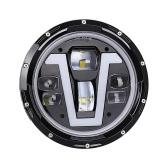1個12V / 24Vモーターサイクルヘッドライトターンシグナルライト付き7インチV字型LEDヘッドライトDRLジープラングラー用Hi / Loビーム交換JKJKU CJ LJTJハマーH1H2