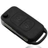 Tirón de 2 botones plegable clave Shell caso entrada cubierta dominante alejada del reemplazo para Mercedes Benz A C E S W168 W202 W203