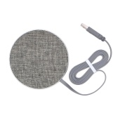 Fast Wireless Charging Pad 10W Jean Fabric Wireless Charger for iPhone 8/8 Plus/X Samsung Galaxy