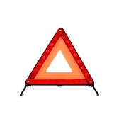 Quelima Universal Triangle Warning Warning kit Car Safty Guarding Red Flexible Car Warning Sign