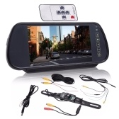 7 inch Car Rear View Mirror Monitor Night Vision Reversing Parking Backup Camera Kit