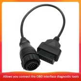 14 Pin to 16 Pin OBDII Cable Male to Female Adapter Car Diagnostic OBD2 Cord for Mercedes Benz Sprinter