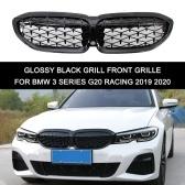 Sostituzione della griglia del rene anteriore con griglia nera lucida per BMW Serie 3 G20 Racing 2019 2020