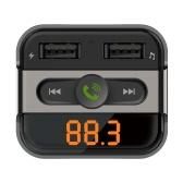 BT Transmissor FM Handsfree Telefone Chamando Kit Car MP3 Player com TF Slot para cartão Dual USB porta carregador de carro para o telefone iPad iOS Android móvel GPS Navigator