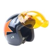 3-Snap Bubble Visor Shield Universal 10 Color Opt & Flip Up Adaptador Casco Snaps