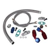 Linha de alimentação de dreno de óleo Turbo Charger 1 / 8NPT Fitting Kit