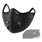 Dust Mask with 5 Replaceable Inner Pads Cycling Running Outdoor Face Mask Training Mask