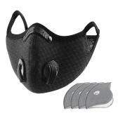 Staubmaske mit 5 austauschbaren Innenpolstern Radfahren Laufen Outdoor Gesichtsmaske Trainingsmaske