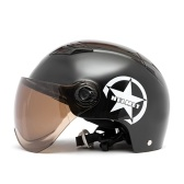 Мотоциклетный шлем Полуоткрытое лицо Регулируемый размер Защита Головные уборы Шлемы