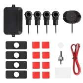 Car Parking Sensors System Parktronics 4pcs Flat Sensors Reverse Backup Radars Sound Buzzer Alarm Adjustable Sound