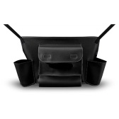 Car Armrest Storage Box Pocket Leather Organizer Car Handbag Holder Between Seats for Tissue Purse Seat Back Bag Pets Kids Barrier