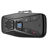 T823 BT 5.0 Manos libres para automóvil Altavoz Receptor de música Funcionamiento con un solo botón Visera parasol Equipo para automóvil