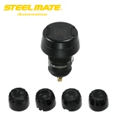Steelmate TP-70 Wireless DIY TPMS Tire Pressure Monitor System with LCD Display 4 External Sensors